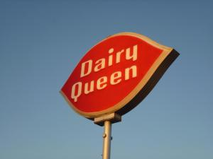 We guiltily stopped at DQ for dinner...