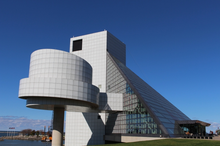 The Rock n Roll Hall of Fame in Cleveland